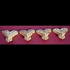 Mantle/Mantel clock feet #5. Set of 4. Clock parts.Metal furniture decorations