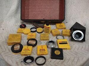 Vintage Kodak Camera Accessories Parts. Filters Step Up Rings Lens Hood Etc