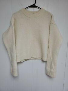 Tory Burch Women's Eva Ivory Wool Knit Sweater XL