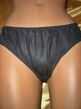 Umwerfendes Vintage Glanz Nylon Höschen Nylonslip Gr. S schwarz Panty Slip(B205)