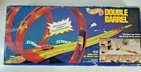 1993 mattel hot wheels double barrel  stunt set  track system complete preowned
