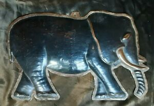 RARE ANTIQUE ART DECO ENAMEL COPPER ADVERTISING ELEPHANT SHOP SIGN CIGARETTES ?
