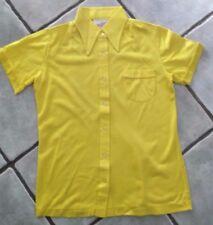 Nueva camisa para mujer Vintage Amarillo Brillante por samirtex of London 1980s tamaño 12 14