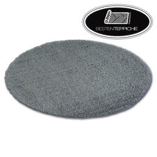 Fantastic Soft, Thick Rugs Shaggy Micro Circle Grey High Quality