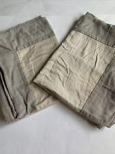 Wamsutta Standard Pillow Shams Set of 2 Gray Textured Tan Modern Zip Closure