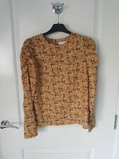 Warehouse Printed Long Sleeve Top Size 10