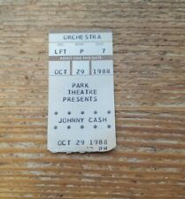 Johnny Cash 1988 Park Theatre Ticket Stub