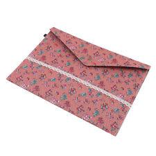 Dots Garden Flower Vintage A4 Documents File Bag Felt Cotton File Bags MA