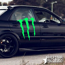 1x LARGE vinyl car van boat side MONSTER sticker graphic decal racing rally