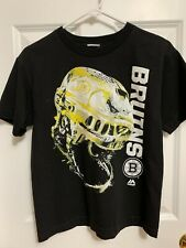 Boston Bruins Hockey Black Boys T-Shirt Size M 8/10