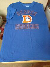 Nike Denver Broncos Men's T-shirt Size Large Tri Blend Blue