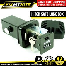 HITCH SAFE LOCK BOX SECURITY KEY CASH CARD VAULT CAR 4WD SUV TOWBALL HITCHSAFE