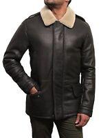 Brandslock Genuine Shearling Sheepskin Leather Bomber RAF Flight Jacket