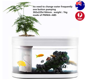 Geometry Fish Tank Aquaponics 4 stage filtration system garden planting top
