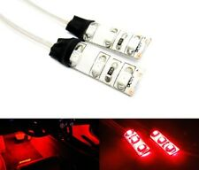 2x Courtesy 3 SMD LED Light Red Strip Car Interior Footwell Glove Box Motorcycle