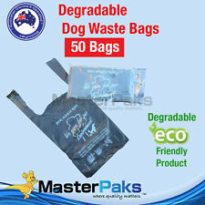 Degradable Dog Poo Poop Litter Waste Bags - 50 Bags