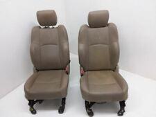 09-11 Ram 1500 Driver Passenger Front Bucket Seat Set Power Memory Leather Tan