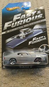 2013 HOT WHEELS FAST AND FURIOUS '70 CHEVY CHEVELLE SS  5/8 OFFICIAL MOVIE CARS