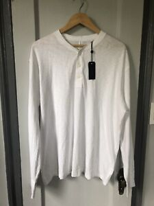 NWT Rag & Bone Men's White Long Sleeve T- Shirt