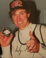 802 GOALS Wayne Gretzky HOF LOS ANGELES KINGS LA  AUTO SIGNED 8x10 PHOTO + COA