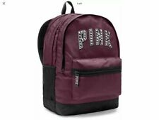 Victorias Secret Pink Campus Backpack Full Size Maroon School Gym Nwt Free Ship