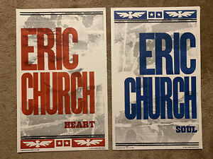 2 Eric Church Heart & Soul Hatch Show #'d Prints Posters Ltd. to 1,000 Each NEW