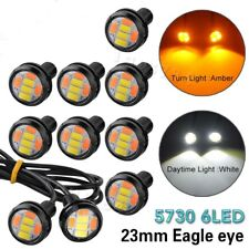 10PCS 12V DC 23MM 5730 6 LED Eagle Eye Daytime Running Dual Color DRL Light