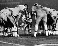 Cfl 1960's Bc Lions Qb Joe Kapp in the Huddle Game Action 8 X 10 Photo Picture