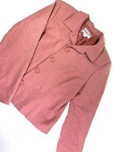 Pendleton Soft Pink 100 % Virgin Wool Suit Jacket Petite Size 8 VGC+ Women's