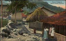 Native Village Otoque Island Panama Army & Navy YMCA Overprint on Back