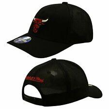 Mitchell & Ness Chicago Bulls Adjustable Peak Snapback Adults Cap Black INTL572