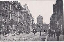 Liverpool,U.K.Castle Street,Trolley Car,Pedestrians,Merseyside,c.1909
