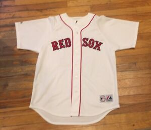 Majestic JON LESTER White Boston Red Sox #31 Jersey Embroidered Mens Size Large