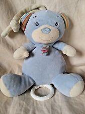 Paradise Toys Blue Musical Teddy Bear Plush Animal Crib Pull Down When You Wish