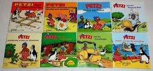 8 x  Pixi ; Nur Petzi ; Titel siehe auch Bild + Text ; RARITÄTEN