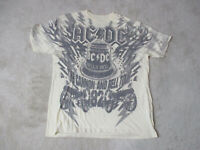ACDC Cannon & The Bell Concert Shirt Adult Large Brown Rock Band Tour Music Mens