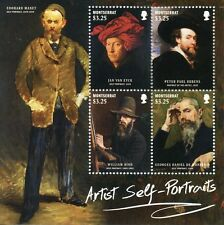 Montserrat 2015 MNH Artist Self Portraits 4v M/S Manet Van Eyck Rubens Stamps
