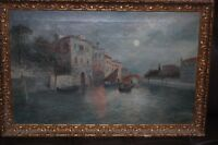 Antique - Oil Painting - Venice - Signed By Artist