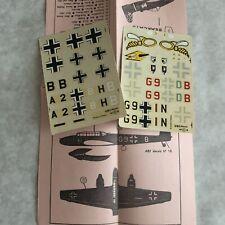 ABT Decal Sheets No 37 1:72 Scale Messerschmitt BF110 Airplane Stickers