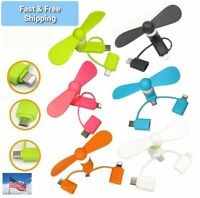 3 in 1 Type C Fan Portable Mobile Phone USB Mini Fan for Android phones & iphone