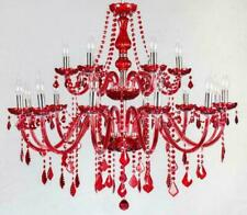 Red Crystal Bedroom Lighting Chandelier Living Room Pendant Light Ceiling Lamp T
