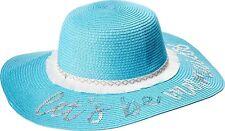 2b2c08336b6 Mud Pie Mermaid Collection Girls Straw Sun Hat - Let s Be Mermaids Blue