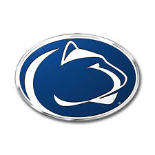 Penn State Nittany Lions Die-Cut Metal Color Auto Emblem - Decal , Sticker