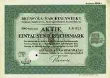 Brunsviga Maschinenwerke 1939 Braunschweig Wilhelmshaven Grimme Olympia 1000 RM
