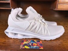 Nike Shox Gravity Mens Mesh Running Shoe White/White AR1999-100 NEW Size 12
