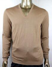 $995 Gucci Men's Light Brown Cashmere V-neck Pullover Sweater XL 232172 2602