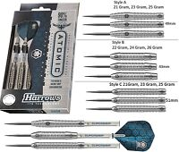 Harrows Atomic 90% Tungsten Steel Tip Darts - Choose from 3 Barrel Styles