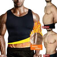 Men's Neoprene Sauna Vest Sweat Shirt Redu Fat Body Shaper Gym Training Top HOT
