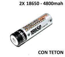2X PILAS RECARGABLES 18650 4800MAH LITIO BATERIA 3,7V 4.8A PILA 4,8A baterias