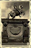Dresden Neustadt alte Ansichtskarte ~1940 Partie am Denkmal August der Starke